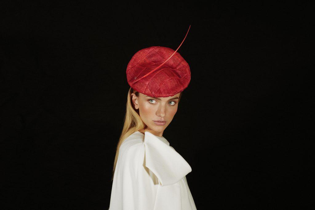 Red bibi hat
