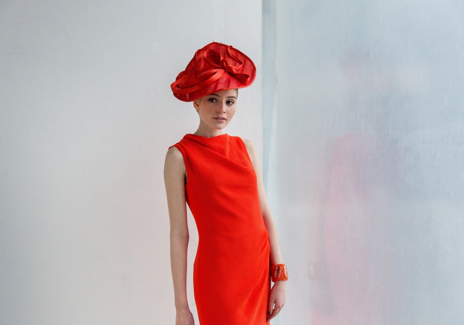 Chapeau glamour rouge