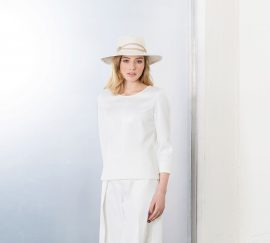 Chapeau en panama blanc
