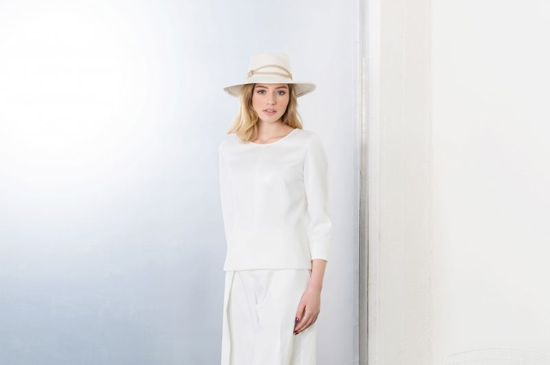 White panama hat