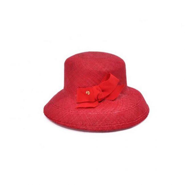 Chapeau clochant en panama