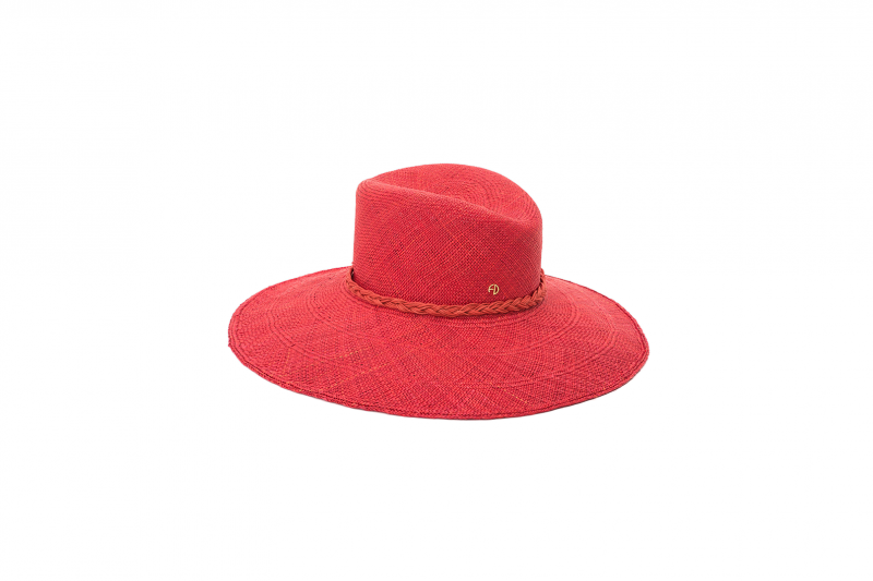 Capeline en panama rouge