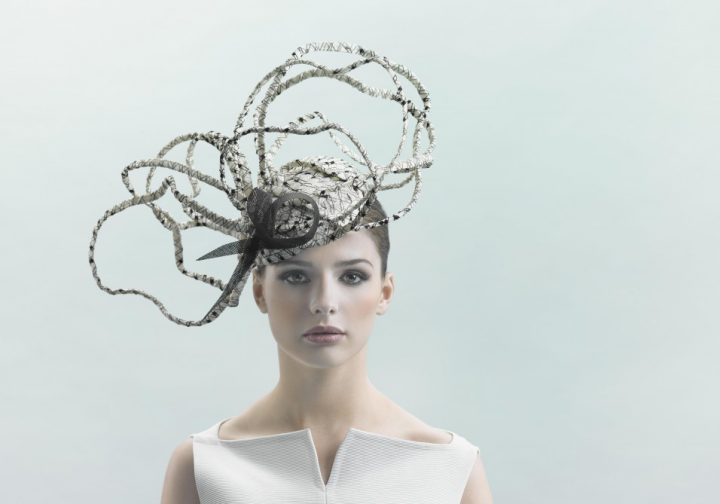 Spectacular and light couture hat