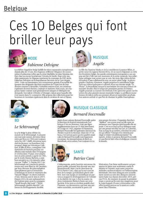La Libre Belgique - « Ces 10 Belges qui font briller leur pays »