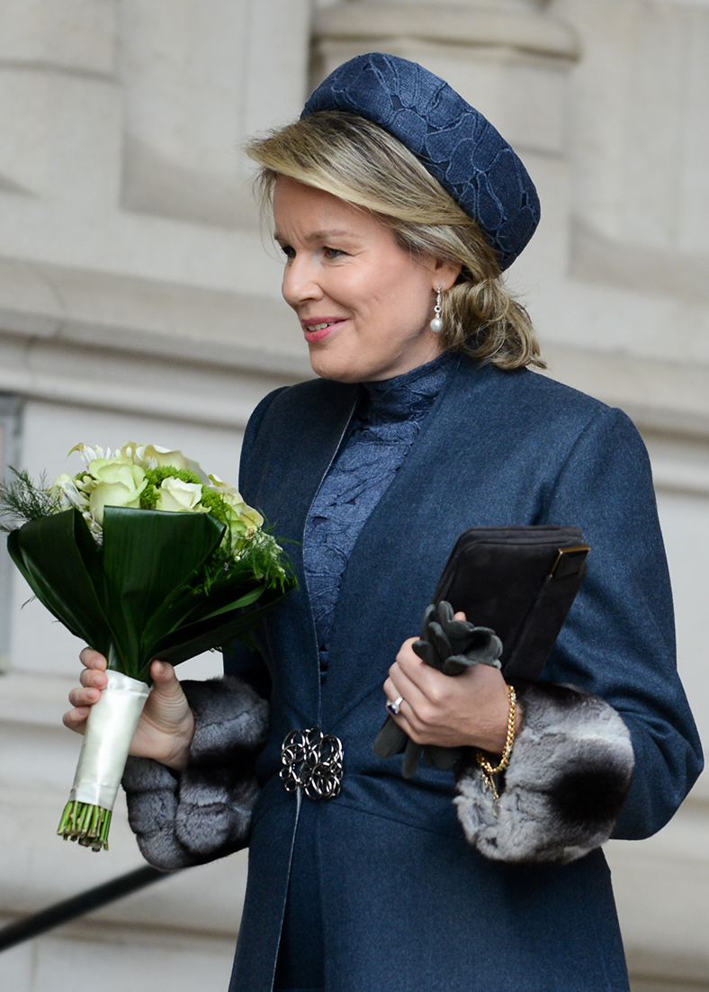 Queen Mathilde - funeral ceremony hat