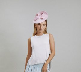 Pink Bibi hat in straw