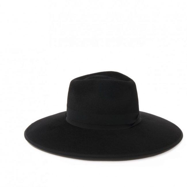 Fedora hoed met brede rand