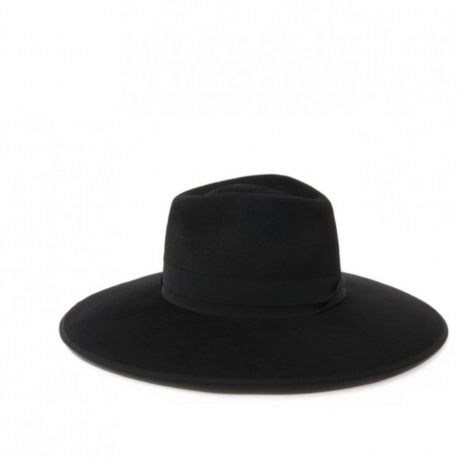 Wide-brimmed fedora hat