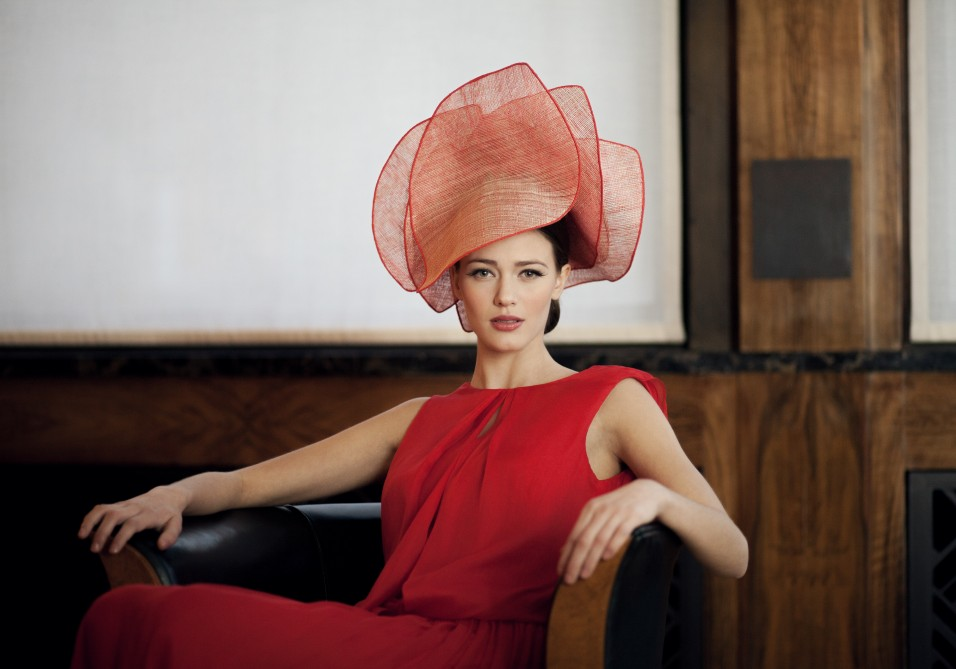 Spectacular couture hat