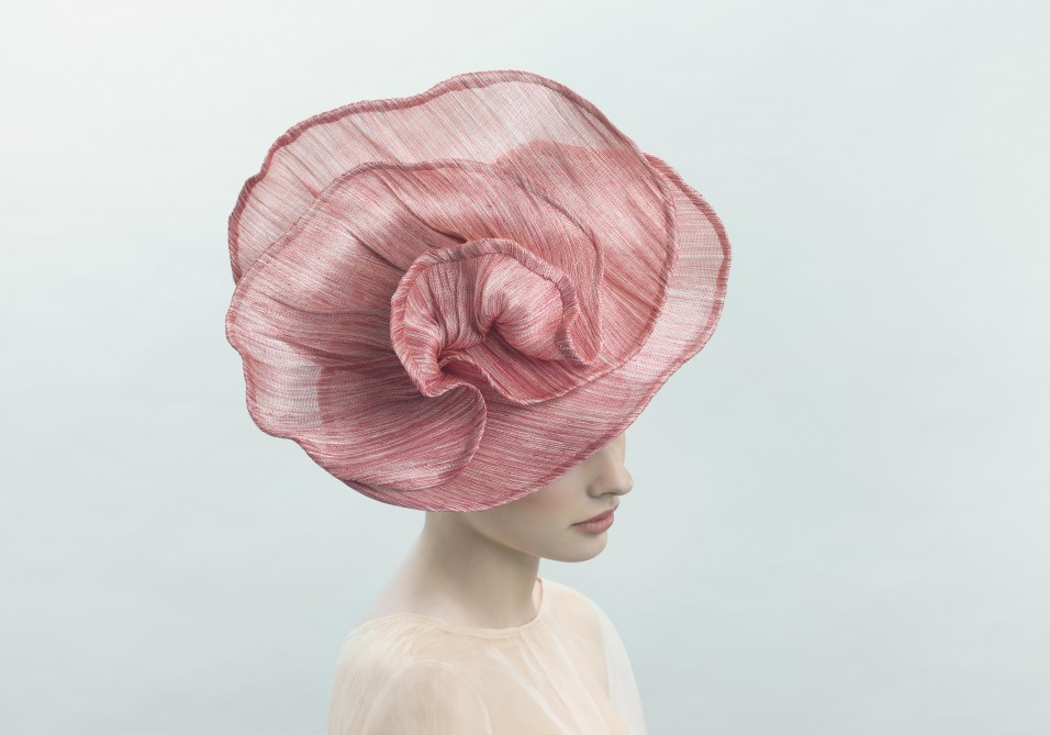 Glamorous and timeless couture hat