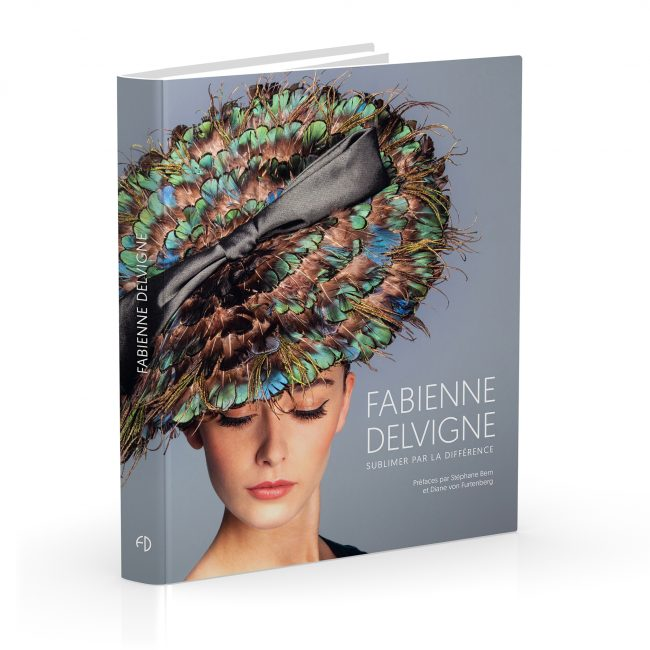 The book traces the exceptional career of Fabienne Delvigne, the hat designer and craftswoman who creates high-end luxury products.