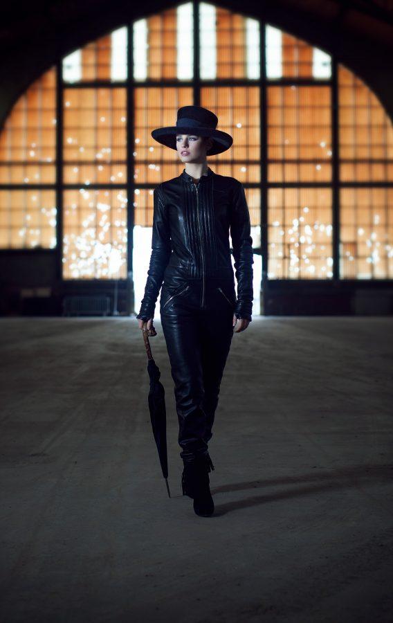 Grand chapeau classique Chapeau en feutre velours garni de ruban