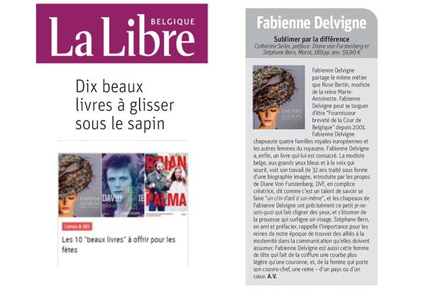 Fabienne-Delvigne-La Libre - Dix beaux livres à glisser sous le sapin news