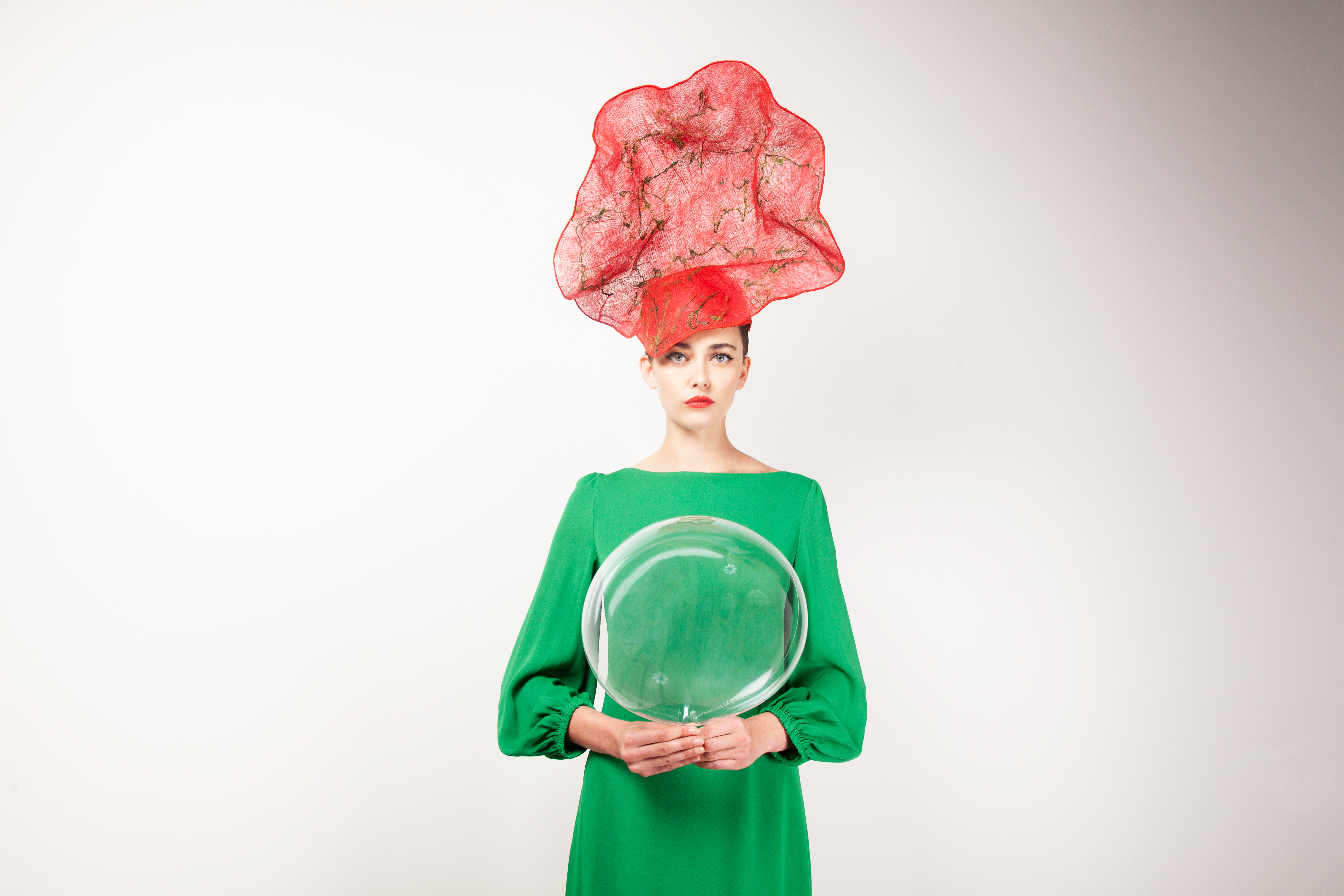 Contrasting Couture Hat