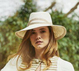 Fabienne Delvigne Chapeau Spigy blanc-cassé Panama Collection Studio