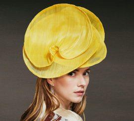 Fabienne Delvigne Hat Calista Jaune fibre de banane Couture