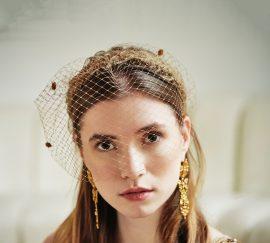 Fabienne Delvigne Headband Mila Camel Porté