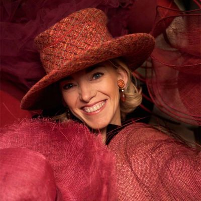 Fabienne Delvigne Portrait Red Hat