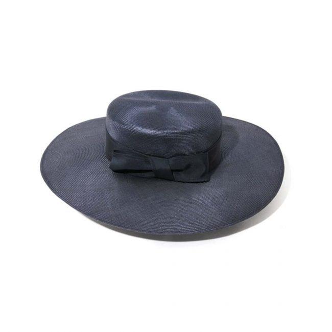 chapeau canotier para-sisal marine
