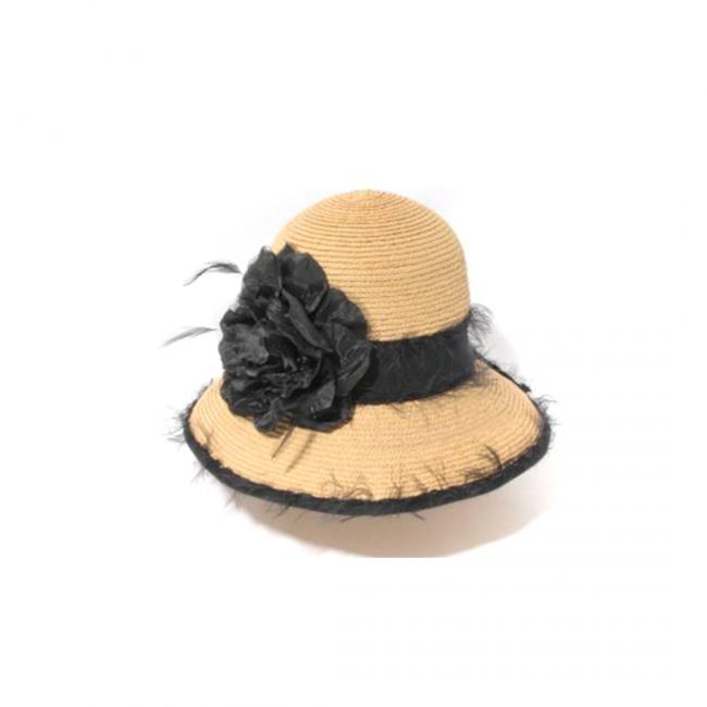 klok hoed Chapeau cloche en paille