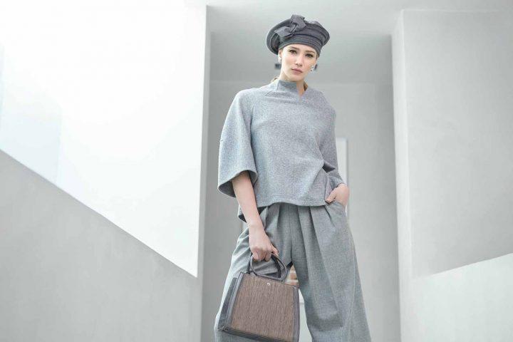 Fabienne Delvigne Beret Pippa Grey Flanel LR