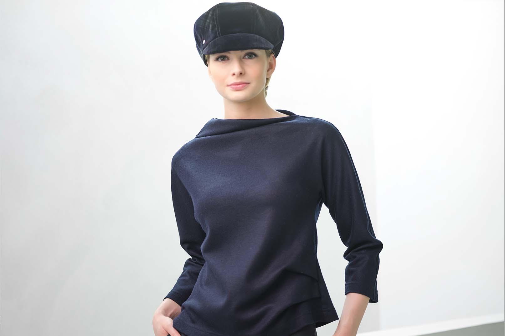 Fabienne Delvigne Cap Velvet Lolita Bleu Green